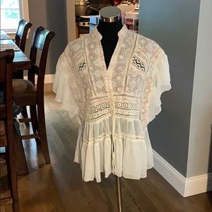 Anthropologie Button Top